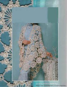 Crochet and arts: Crochet shawl by motifs