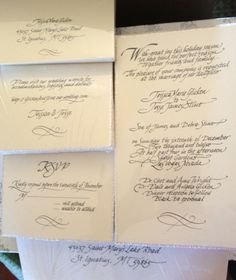Wedding Invitation Wedding Stuff, Our Wedding, Handwriting Fonts, Diy Gifts, Wedding Invitations, Bullet Journal, Calligraphy, Personalized Items, Crafts