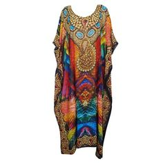 Mogul Interior Womens Caftan Dress Throwing Shades Digital Print V-Neck Beach Cover Up OneSize Maxi Kaftan, Boho Girl, Kimono Fashion, Resort Wear, Dress First, Lounge Wear, Boho Chic, Vintage Fashion, Gypsy