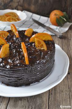 Vegan chocolate-orange cake made with avocado Chocolate Avocado Cake, Chocolate Orange, Vegan Chocolate, Chocolate Cake, How To Make Cake, Birthday Cake, Pudding, Cooking Recipes, Baking