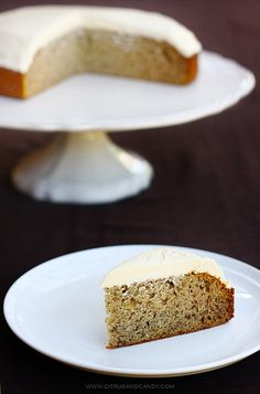 Banana Cake with White Chocolate Cream Cheese Frosting by Citrus and Candy, via Flickr