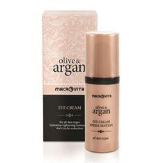 OLIVE & ARGAN EYE CREAM: Specjalna formuła kremu z innowacyjnym składnikiem TimeCode™ natychmiast nawilża, napina i działa odmładzająco na delikatną skórę wokół oczu. Likwiduje zmarszczki oraz linie mimiczne, niweluje cienie i wszelkie oznaki zmęczenia.