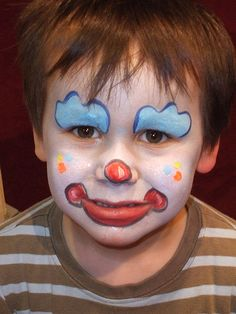 Cute clown face painting make up
