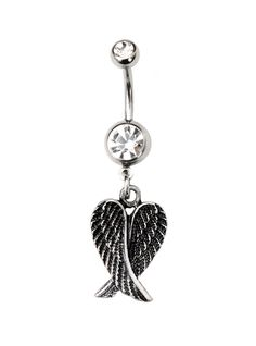 Morbid Metals 14G Tarnished Wings Navel Barbell | Hot Topic