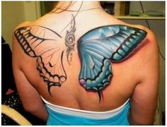 3d tattoo butterfly Amazing 3D Tattoos as seen on CoolWeirdo.com