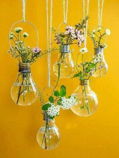 Light bulb bouquets, beautiful X