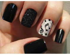 Today I present you a big nail art picture collection called 37 Cute Nail Art Designs with pictures of perfect manicure ideas by professional. Music Note Nails, Music Nails, Piano Nails, Music Nail Art, Art Music, Music Life, Love Nails, Pretty Nails, My Nails