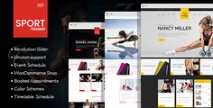 awesome Sport Trainer - Boxing, Yoga and Crossfit Trainer WordPress Theme (Overall health &amp Beauty)