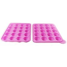 Leegoal 20 Silicone Ball Shaped Lollypop Cupcake Baking Modelling Tray With 20Pcs Sticks ,Pink by Tasty Pop