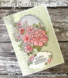 Julie Kettlewell - Stampin Up UK Independent Demonstrator - Order products Lovely Lattice - only 9 days left! Handmade Birthday Cards, Happy Birthday Cards, Card Making Inspiration, Kids Cards, Homemade Cards, Stampin Up Cards, Cardmaking, Paper Crafts, Card Ideas