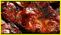 Easy Honey Garlic Pork Chops made simple, with the most addictive honey garlic sauce! A new family favourite pork recipe. Honey Garlic Pork Chops, Honey Garlic Sauce, Baked Pork Chops, Pork Loin, Lamb Recipes, Side Recipes, Cooking Recipes, Healthy Recipes, Dinner Recipes