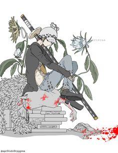 One Piece Anime, One Piece Comic, One Piece Fanart, One Piece Luffy, Good Anime Series, One Piece Drawing, Slash, One Piece Pictures, Trafalgar Law