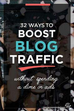 32 Insanely Easy Ways to Boost Blog Traffic for Free | If you're ready to market your blog and grow your audience, but don't know where to start, this post is for you! It includes 32 ways bloggers and entrepreneurs can promote your posts to make sure work is found by more people. Click through to see all the tips!
