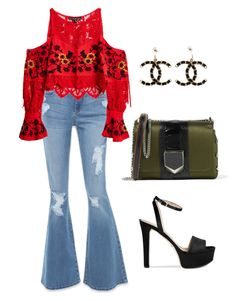 """""""Sometimes We Do Simple!!!"""" by la-harrell-styling-co on Polyvore featuring Bebe, For Love & Lemons, Gucci, Chanel and Jimmy Choo"""