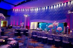Jared and Lana Cook's blush and gunmetal Georgia Aquarium wedding. Wedding Planned & Design by Tiffany Cook Events.