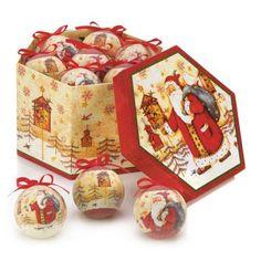 Home Locomotion - Birdhouse Santa Ornament Box Set