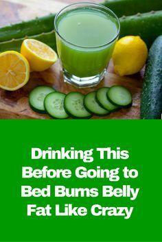 Toma esto antes de irte a la cama, durante 5 noches y dile adiós a la grasa abdominal.   salud   Pinterest