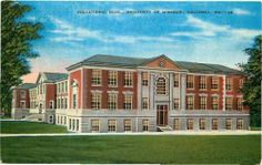 Postcard Educational Building University of MO Columbia Missouri | (Now it's Townsend Hall)