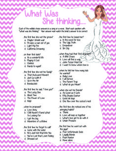 pink chevron bridal shower game what was she thinking instant download wedding shower game couples shower game