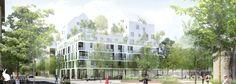 NAUD & POUX Architectes - COLOMBES, Logements, Concours