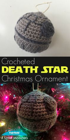 Free pattern for a crocheted Death Star Christmas ornament just in time for Star Wars Rogue One. The perfect Christmas ornament for any Star Wars fan.