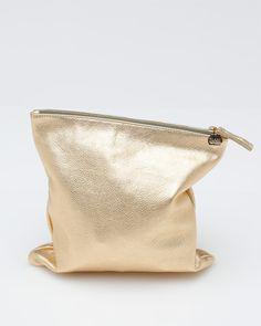 Designer Clare Vivier | clare vivier foldover clutch in gold