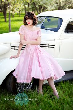 senior portrait---50's concept shoot