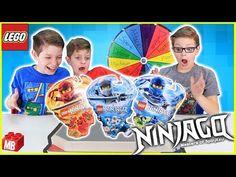 Lego NINJAGO SPINNER MYSTERY WHEEL BATTLE! All Spinjitzu Switch Up Super Silly Kids Challenge! - YouTube Lego Ninjago Spinners, Ninjago Spinjitzu, Lynx, Battle, Mystery, Challenges, Baseball Cards, Videos, Youtube