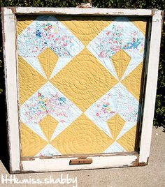 great idea for old cutter quilts & a used window