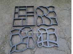 60*50cm  5pcs/lot Hot sale driveway patio concrete stepping stone path walk maker paving pavement mold #Affiliate
