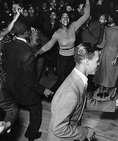 Dancers at a Harlem Nightclub  Couples dance to swing in Harlem Nightclub, Early 1930's.
