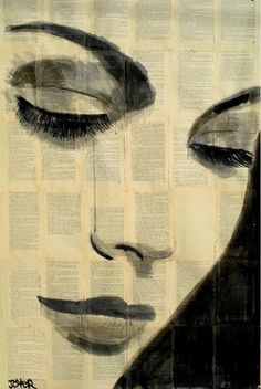 "Saatchi+Art+Artist+Loui+Jover;+Drawing,+""this+moment""+#art"