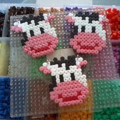 Cows perler beads by ditaksaras