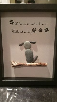 Pet pebble art by SDCreations0813 on Etsy