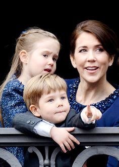 danishroyalfamily: Crown Princess Mary with the twins Princess Josephine and Prince Vincent, April 16, 2015