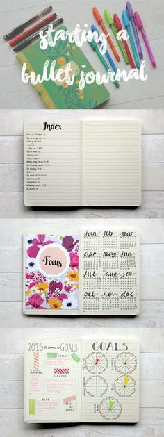 Love the idea of Bullet Journals to keep track of goals, to do lists etc.