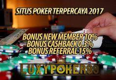 Luxypoker99 adalah sebuah Situs Poker Online Terpercaya Tahun 2017 , Menyediakan banyak permainan seperti Live Poker Online Terbaru Tahun Ini.