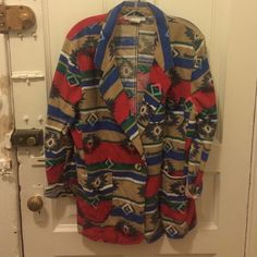 Aztec Vintage Jacket Looks awesome belted! A bit oversized runs more on the large size. Vintage Jackets & Coats Blazers