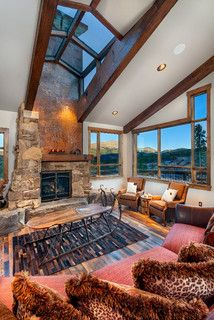 9 Peak Eight Circle - rustic - living room - denver - by Pinnacle Mountain Homes