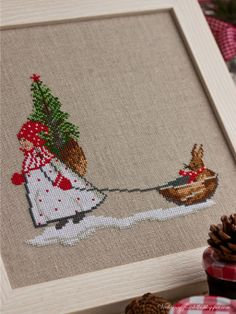 love this. by Acufactum I believe its from: Christmas book «Advent im… Cross Stitch Christmas Ornaments, Christmas Embroidery, Christmas Cross, Christmas Ideas, Embroidery Applique, Cross Stitch Embroidery, Machine Embroidery Designs, Cross Stitch Patterns, Cross Stitch Finishing