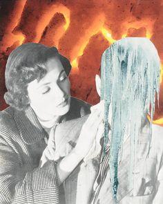 """Saatchi Online Artist: Erin Case; Paper, 2012, Assemblage / Collage """"Leak"""""""
