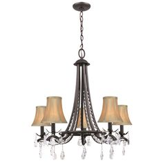Shop Our Biggest Semi-Annual Sale Now! Brown, Bronze Finish, Bedroom Chandelier, 5 Lights Home Goods: Free Shipping on orders over $45 at Overstock.com - Your Home Goods Store! Get 5% in rewards with Club O!
