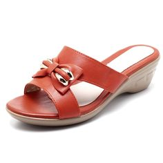 Bowknot Leather Hollow Out Wedges Slippers sells at a wholesale price. More other womens slippers also sell at a wholesale price Mobile. Chunky Shoes, Vegan Shoes, Wholesale Shoes, Leather Wedges, Ciabatta, Womens Slippers, Types Of Shoes, Womens High Heels, Sneakers Fashion