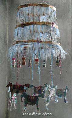 Amazing Lamp Inspiration For The Kids Room.For some of you crafty people out there you might get inspired & make something so gorgeous yourself?