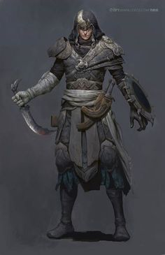 Like the shield look and feel of the outfit. Wielding rapier or handaxe instead