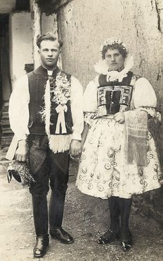 Horní Němčí Svatba 1930 - 1940