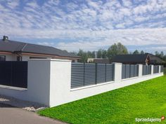 PLN TARCZYŃSCY company was founded in The main purpose and idea behind it . Fence Gate Design, Modern Fence Design, Privacy Fence Designs, House Gate Design, Door Design, Brick Fence, Concrete Fence, Front Yard Fence, Single Floor House Design