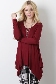 This would look cute w a belt  Forever Wonderful Top $22.20 at Urban OG
