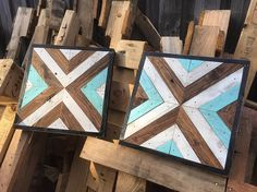 Geometric Wood Wall art 'Folkalize'