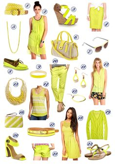"""Nat in Love: """"color crush: highlighter yellow."""" Read more at http://www.natinlove.com/2012/06/color-crush-highlighter-yellow.html?pin=1"""